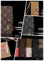 wallet case großhandel-Designer-Handyhüllen Brieftasche aus Leder für das iPhone X XS Max XR 8 7 6 6S Plus Hülle für Samsung Galaxy S9 S8 Plus Note8 9 Kartenhalter