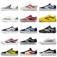 monopatines de tormenta al por mayor-Skateboard Sports off Women Hombre Zapatos casuales Fear Of God old skool Zapatos de lona Yacht Club Revenge X Storm Black White Zapatillas deportivas