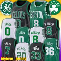 ingrosso 36 jersey-Kemba Walker 8 Jersey Jayson 0 Tatum Jersey Boston Jersey del Celtic, Gordon Hayward 20 Jaylen 7 Brown maglie Larry 33 Uccello Marcus 36 intelligente