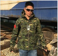 Wholesale tactical suit army resale online - Outdoor Sport Softshell Jackets Pants Men Hiking Hunting Clothes Camouflage Tactical Camping Hunting Suits