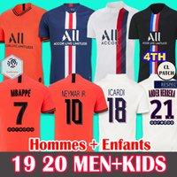 futbol kaleci takımları toptan satış-19 20 Soccer Jersey PSG Paris Saint-Germain Futbol Forma 2019 2020 Paris MBAPPE Icardi Marquinhos Jersey KADIN gömlek ERKEK ÇOCUK setleri camisetas