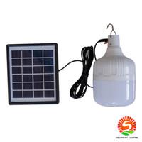 Wholesale emergency solar lighting resale online - 30 W Solar bulb IP55 remote control solar lamp bulb solar emergency emergency light charging bulb lamp booth light