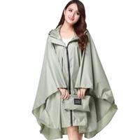 Wholesale men rain wear for sale - Group buy Raincoat Women Men Waterproof Backpack Rain Wear Outdoors Hiking Rain coat Poncho jacket cloak capa de chuva Chubasqueros