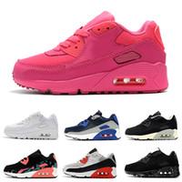 ingrosso scarpe aeree nere-Nike air max 90 da ginnastica per bambini Presto 90 II Scarpe da corsa per bambini Nero bianco Sneakers da neonato per bambini 90 Scarpe sportive per bambini ragazze ragazzo Allenatore di giovani