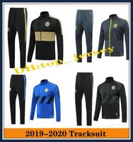 chaqueta de futbol para hombre al por mayor-2019 INTER Mens chaquetas de chándal de fútbol establece ICARDI nainggolan CANDREVR chaqueta de chándal tuta sportiva 19 20
