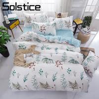 Wholesale kids girls bedding set for sale - Group buy Solstice Home Textile King Twin Bedding Set Girl Kid Teen Adult Linen Brief Flower Duvet Quilt Cover Pillowcase Bed Sheet