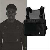 hip-hopfen großhandel-Harness Chest Rig Tasche Hip Hop Streetwear Tactical Black Chest Rig Molle Funktionelle Gürteltasche Herren Wasserdichte Umhängetaschen