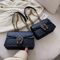 Wholesale gold drawstring bags resale online - Fashion wild messenger bag chain bag purses women bags for women handbag handbags alexa bolsa feminina
