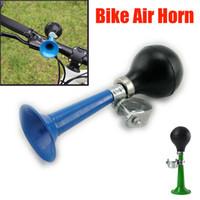 bisiklet lastiği toptan satış-Bisiklet boynuzları Bisiklet Retro Metal Hava Horn Hooter Bell Bugle Kauçuk Sıkıştırın Bugle bells ciclismo açık Bisiklet aksesuarları