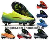 Wholesale mercurial vapor soccer boots resale online - 2020 Mens Mercurial Vapors XIII Elite SG PRO AC CR7 MDS Ronaldo NJR Neymar Women Boys Soccer Shoes Football Boots Cleats US6