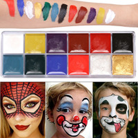 ingrosso olio fatto-Halloween Pigment Oil Drama Makeup 12 Colors Body Paint Impermeabile cosmetico Shimmer Matte Stage Face Make up Facile da indossare