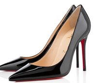 Wholesale Christian Bottom Louboutin CL Women s high heels cm cm cm nude black red leather pointed dress shoes b3