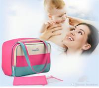 çok işlevli toptan toptan satış-Çanta Sırt Çantası Açık Seyahat Çanta Çantası Paketi Değişen 20pcs Kadınlar Bez Fonksiyonlu Bebek Bezi Çanta Annelik Anne Mumya Nappy