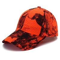 оранжевая шляпа для охоты оптовых-Рыболовные инструменты оранжевый Cmouflage твердой древесины бейсболка открытый охота рыбалка Велоспорт кемпинг пешие прогулки мужчины и женщины камуфляж шляпа