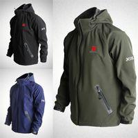 Wholesale winter softshell jacket for men resale online – Outdoor Waterproof Softshell Jacket For Man Windbreak Breathable Jackets Colours Loose Coat Long Sleeves Hot Sale wl D1