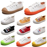 свободные кроссовки стиля оптовых-Non-Brand Ленивый Детская обувь скольжения на холст обувь мальчик девочка ребенка Дети кроссовки мода повседневная обувь 20-31 Style 1 бесплатная доставка