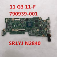 Wholesale intel laptop motherboards for sale - para Chromebook for G3 F Laptop motherboard DAY07MB16D1 With SR1YJ N2840 CPU placa madre Full Tested