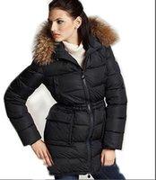 rakun palto stilleri toptan satış-2019 Marka kadınlar Kış Koleksiyonu Kış Kadın Aşağı Ceket X-Uzun Aşağı Parka Kadınlar için 100% Gerçek Rakun Kürk Ceket Avrupa Tarzı