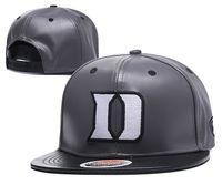 ingrosso i cappelli dei cappelli dei giovani-Il cappuccio all'ingrosso dei cappelli di pallacanestro dell'università Duke Blue Devils ricopre il cappuccio grigio blu di snapbacks del cappello adulto e la miscela della gioventù ordina il trasporto libero di ordine