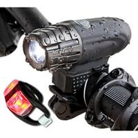 зажим велосипед руль оптовых-Перезаряжаемый передний руль Велосипедный фонарь Батарея 360 вращение Факел Зажим для крепления переднего велосипеда
