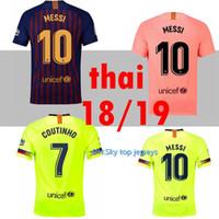 946aa7d6c72 Wholesale messi thai jersey online - 2018 FC Barcelona MESSI Soccer Jersey  men home away pink