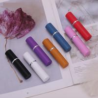 Wholesale atomiser bottles resale online - 5ml color empty perfume bottle ml Aluminium Anodized Compact Perfume Atomiser fragrance empty glass scent bottle JXW159