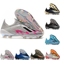 Wholesale football shoes quality for sale - Group buy 2020 top quality mens soccer shoes X FG soccer cleats X Encryption Code leather football boots scarpe da calcio blue