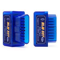 ingrosso opel in bianco chiave dell'automobile-Mini ELM327 Bluetooth V2.1 / V1.5 OBD2 dell'attrezzo diagnostico OLMO 327 Bluetooth Car scansione universale Strumenti