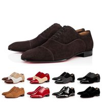 red bottoms schuhe zum verkauf groihandel-Top Sale Gentleman Sneaker Red Bottom Greggo Orlato Wohnungen Männer Frauen Gehen Hochzeit Kleid Luxuxentwerfer rote Sohle Schuhe