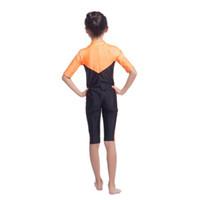 Wholesale islamic swimsuits resale online - New Kids Girls Modest Swimwear Swimsuit Muslim Islamic One piece Swimsuit S XL