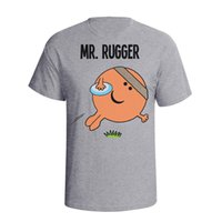 ingrosso t-shirt da rugby-Mr Rugger RUGBY Mens T-Shirt Christmas Fathers Day Regalo Compleanno Sport Trump sudore sporter t-shirt