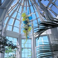 Wholesale chihuly style chandeliers resale online - Special Colorful Flush Mount Ceicling Lights Chihuly Style Hand Blown Glass Art Chandelier Lighting Restaurant Hotel Lights