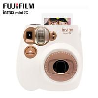 câmera mini tiro venda por atacado-Original fuji instax mini 7c câmera instantânea leitoso mini filme de impressão de fotos snapshot câmera de tiro