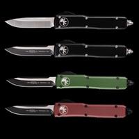 facas taticas venda por atacado-MT UTX 85 faca automática dupla ação Tático micro facas tecnologia carbide classe disjuntor faca de bolso alça de alumínio auto ferramentas EDC