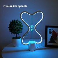 office decor color toptan satış-7 Renk Değiştirilebilir Heng Denge Lambası USB Powered ev Dekor Yatak Odası Ofis Çocuklar lava lambası Çocuk Hediye Noel Gece lambası