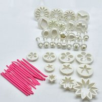 Wholesale fondant cake cookie cutters flower for sale - Group buy 47pcs Plunger Fondant Cutter Cake Tools Cookie Biscuit Cake Mold Mould Craft DIY D Sugarcraft Cake Decorating Tools Flower Set