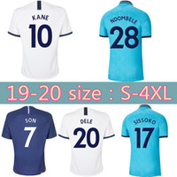 Wholesale spurs soccer jersey for sale - Group buy size S XL Top quality KANE spurs Soccer Jersey LAMELA LUCAS ERIKSEN NDOMBELE DELE SON Jerseys Third Football shirt