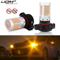 Wholesale amber for car for sale - Group buy iJDM No Hyper Flash Amber Yellow Car PSY24W LED Canbus Error Free PSX24W PS19W LED Bulbs For car Front Turn Signal Lights V