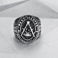 Wholesale pirate ring silver resale online - 2019 new Men Ring Stainless Steel Round Shape Silver Color Anchor Pirate Navigate Punk Ring for Men Fashion Jewelry
