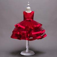 robes multi couches achat en gros de-2019 enfants vêtements Femme fille fleur fille jupe multicouche pettiskirt brodé spectacle robe jupe feuilletée jupe costume de fête