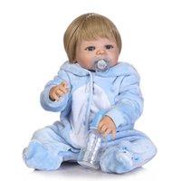 ingrosso bambola reale piena-Bebe Reborn Promotion realistica baby doll rinata morbido vero tocco delicato baby bambola piena in vinile per bambini Regalo di compleanno