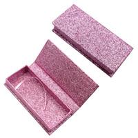 boş glitter box toptan satış-Lüks Glitter kağıt Yanlış kirpik ambalaj kutusu 3D Vizon Kirpikler Boş kirpik ambalaj kutusu Sahte Kirpikler Ambalaj Manyetik kutu