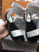 ingrosso sandali dei talloni della scatola-Designer Donna Estate Décolleté Scarpe 65mm Tacchi alti Slingback Beige Grigio Nero Due toni Pelle Donna signore lusso Sandali Taglia 34-41 Scatola