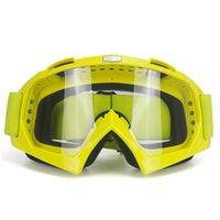lente flexível venda por atacado-Óculos de Motocross Adulto Motocicleta Óculos de Ciclismo Cross Country Flexível Lente Clara Ooculos de grau
