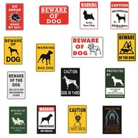 Wholesale guard dogs resale online - Beware of the DOG GUARD ON DUTY WARNING DANGER Tin Sign Retro Metal Painting Poster Bar Pub Signs Christmas Decor Art