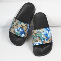 sandálias lisas para o casamento venda por atacado-Sandálias das mulheres Sapatos de Casamento Designer de impressão de Luxo Deslize Moda Verão Largo Plano Sandálias Chinelo Frete Grátis