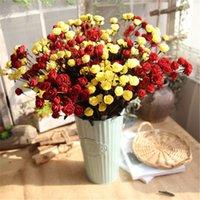 mini rosas falsas venda por atacado-Mini Colorido Decorativo Rosas PE Casamento Artificial Casa Decorativa Flores Rosa Vivid Fontes Falso Fontes Do Partido