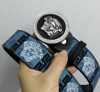 womens black gold belt venda por atacado-2019ok cintos mens designer cintos de negócios de couro genuíno fivelas de cinto cinto de luxo cinta preta grande fivela de ouro das mulheres cinto presente com