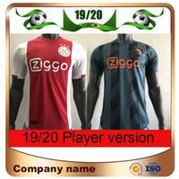 Wholesale ajax away soccer uniform for sale - Group buy 19 Ajax Player Version home Soccer Jerseys Ajax Away NERES TADIC DE LIGT ZIYECH Soccer Shirt Champions League football uniforms
