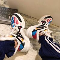 ingrosso pattini di colore dell'oro delle donne-Scarpe da uomo Sneakers rare Donna Colore Oro Argento Stringato Sneaker Paris Fashion Archlight Sneaker alta in vera pelle Ugly Dad